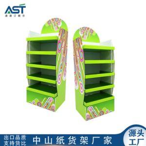 hecho personalizado neon green expositor de cartón para las ventas de toallas