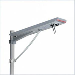 Hepu 30W 60W 70W 80W intégré toutes dans une rue lumière LED solaire Certification RoHS haute efficacité de la rue haute luminosité LED lampe de feu