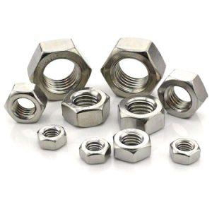 En acier inoxydable ASTM 304 316 DIN934 18.2.2 Les écrous hexagonaux