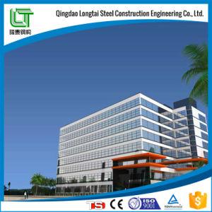 La estructura de acero de la construcción de varios pisos