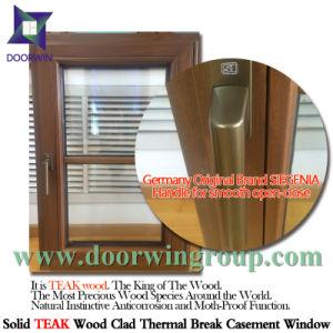 Nahtlose Aluminiumecken-inneres Ausstellfenster, hölzernes Aluminiumflügelfenster-Fenster für Klienten Kalifornien-USA