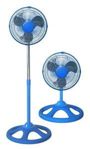 10inch Industrial Stand Fan 2 in 1 Blue Color (FS25A21)