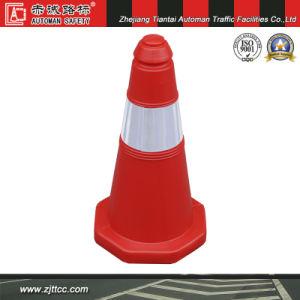 50cm rouge Attention cône en plastique de la sécurité routière (CC-A05)