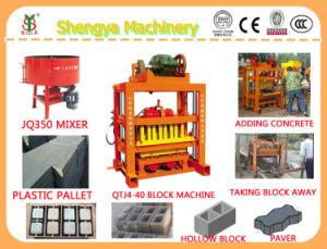 ケニヤまたはナイジェリアのためのQtj4-40手の出版物の空のブロック機械価格