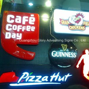コーヒーおよびビールロゴLEDはライトボックスを吸うアクリルを形成する