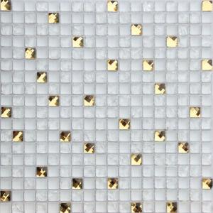 Tuiles de mosaïque mélangées en verre et de miroir (ST02)