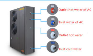 14kw Capacidade de aquecimento Evi ar para água da bomba de calor