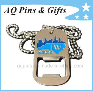 Modifica di cane dell'animale domestico del metallo dell'acciaio inossidabile o della lega su ordinazione promozionale con l'apri di bottiglia (011)