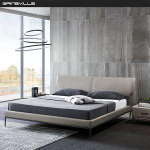 Moderno Conjunto de muebles de dormitorio doble con camas King-Size solo las patas de acero inoxidable negro