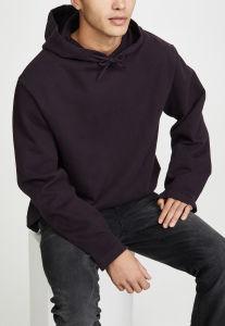 Los hombres de gran tamaño al por mayor llanura personalizados Jersey Sweatshirt Blank Gimnasio sudaderas con capucha