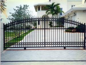 F001 ограды из кованого железа в саду у поставщика сварные Ограждения панели с затвором