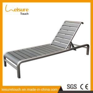 Im Freiengarten-Patio-Möbel-Steigung-justierbarer Aluminiumliegenbettsun-Strand-Aufenthaltsraum-stützender Klappstuhl