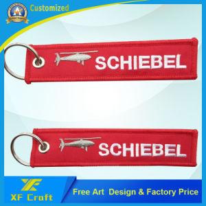 Индивидуальные пользовательские дешевые вышивкой из кольца для ключей для продвижения по службе/сувенир