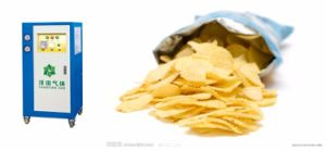 Macchina della patatina fritta con il gas dell'azoto