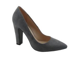 Pauline Toe pointues Chunky enveloppé robe chaussures haut talon pompes