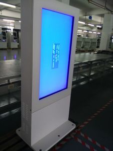 Dedi 55inchの屋外の防水バス停のタッチスクリーンLCDデジタル情報の表記