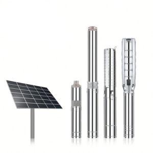 La energía solar sumergibles de pozo profundo bombas de agua 2018 Bomba de la agricultura