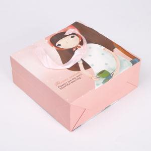 귀여운 손잡이 물색 종이 봉지