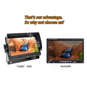 Systeem van de Camera van de auto Rearview met de Camera van de Visie van de Nacht en 9-duim de Monitor van het Scherm van de Vierling