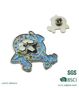 金属銀製カラーシマウマの整形折りえりPin (XD-B14)