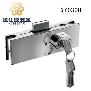 Cerradura de puerta de cristal de acero inoxidable parche Abrazadera de montaje de la puerta de cristal XY030D