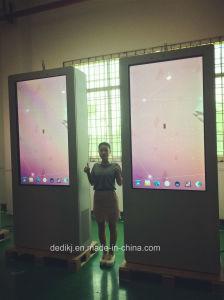 Dedi 65inch 상업 광고 선수를 위한 두 배 측 간이 건축물 LCD 디지털 Signage LCD 디스플레이