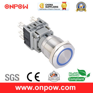 Onpow 19mm Push Button Switch (LAS1-BGQ-11E/R/12V/S、ULのセリウム、CCC、RoHS)