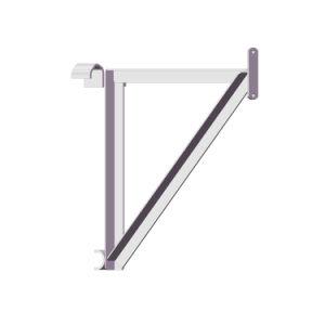 Seitlicher Stahlhalter En74 für Rahmen-Baugerüst