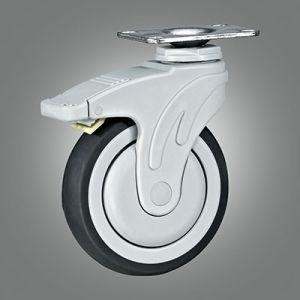ブレーキが付いているボルト孔PAのフォークの旋回装置TPRの医学の足車