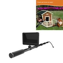 Digital HD 1080 5mega telescópico, resistente al agua con una cámara de inspección 7pulgadas HD DVR Monitor y un polo de 5m