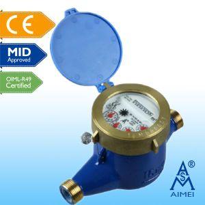 Le milieu de certificat de type piston volumétrique Compteur d'eau en laiton