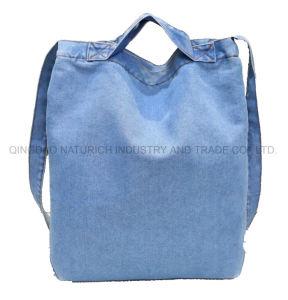Cowboy-Jeans-Art-Segeltuch-Schulter-Beutel-/Tote-Beutel-/Jean-Beutel-/Custom-einfache große Kapazitättote-Beutel-Jean-Einkaufen-Beutel