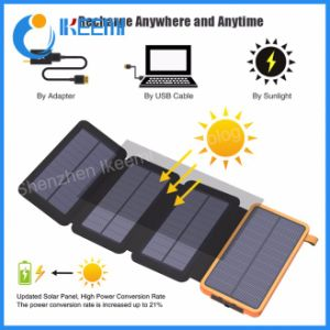 Солнечная энергия банка внешнего аккумулятора быстрая зарядка два банка питания USB портативный