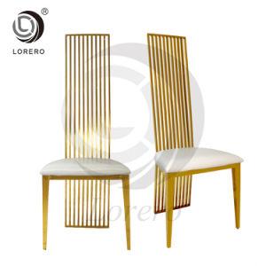 Mobiliário de refeições quentes da estrutura de metal Ouro Cadeira de Aço Inoxidável PU cadeira de couro para venda