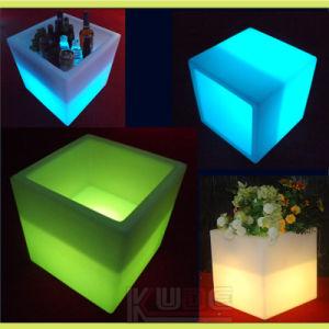 Beleuchteter Würfel-Stuhl des LED-geöffnete Würfel-Tisch-LED Möbel