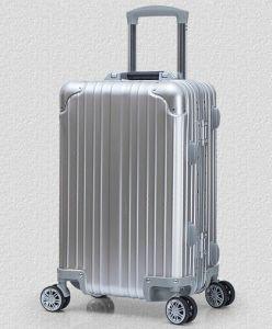 Neues Baumuster-Aluminiumlegierung-Gepäck-Universalität dreht Spitzenmetallgeschsaftsreise-Beutel