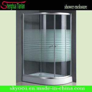 Pintura sencilla deslizable en vidrio baño espacio para duchas (TL-511)