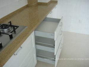 Witte Klassieke MDF van het Membraan van pvc Vinyl Verpakte Keukenkast
