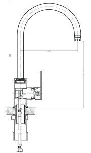 Grifo Cocina latón grifo de cocina (GL229A41)