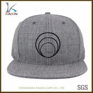 Barato gris Snapback Caps promocional personalizado con logotipo bordado plano