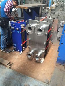 Central Air Conditioning를 위한 Hisaka Ux10A Flat Plate Heat Exchanger