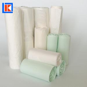 100%のCompostableコーンスターチの屑のロールの包装のごみ袋