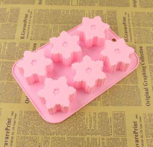 6 de alta qualidade em forma de flor de cavidade do molde de silicone sabão grande bolo de pudim de moldes de silicone