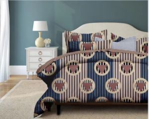 標準的なヨーロッパ式のディスパースによって印刷されるポリエステル寝室セットの寝具