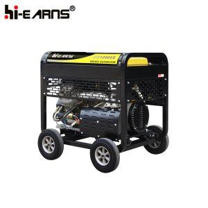 Van de Diesel van het Type van twee Cilinder de Stille Rode Kleur Reeks van de Generator (DG12000E)