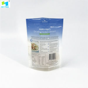Resealableプラスチックは食糧のためのジッパーの袋を立てる
