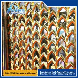 Acier inoxydable gaufré feuille avec matériaux de protection environnementale