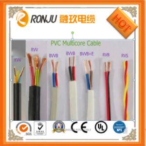 300/500V com isolamento de PVC Fio eléctrico BV/BVV/RV/Rvv/Cabo Rvs