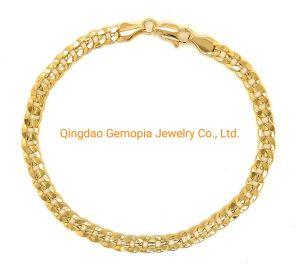 Os homens de latão jóias de ouro de Cadeia Figaro Cubano Ródio Colar de latão niquelado Jóias