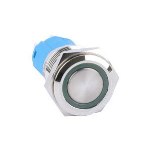 16mm 1n1nc momentâneo de latão Interruptor do Botão Redefinir Angel Eye Interruptor iluminado